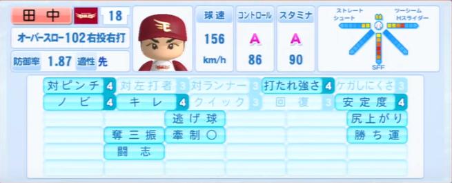 田中将大_楽天イーグルス_パワプロ能力データ_2013年シーズン終了時