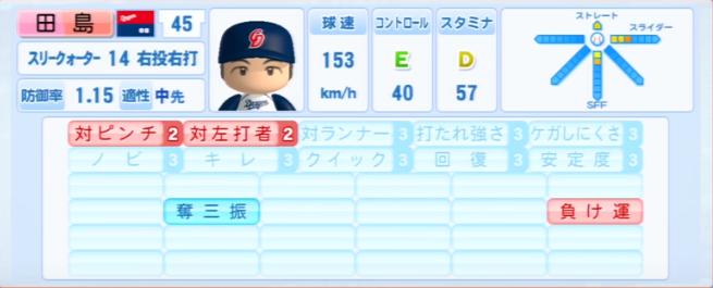 田島慎二_中日ドラゴンズ_パワプロ能力データ_2013年シーズン終了時