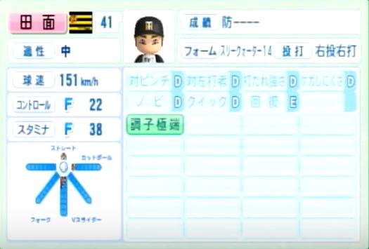 田面_阪神タイガース_パワプロ能力データ_2014年シーズン終了時