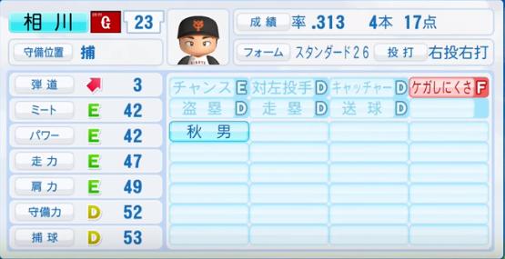 相川亮二 _巨人_パワプロ能力データ_2016年シーズン終了時