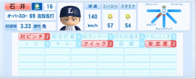 石井一久_西武ライオンズ_パワプロ能力データ_2013年シーズン終了時