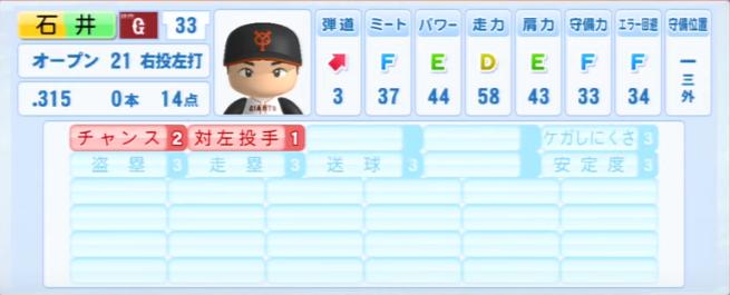 石井_巨人_パワプロ能力データ_2013年シーズン終了時
