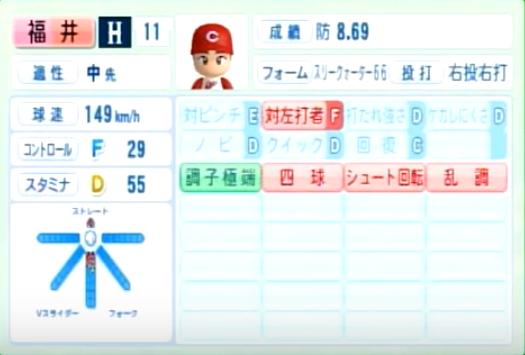福井_広島カープ_パワプロ能力データ_2014年シーズン終了時