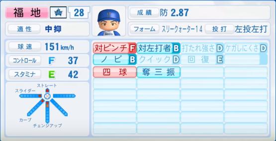 福地_横浜DeNAベイスターズ_パワプロ能力データ_2016年シーズン終了時