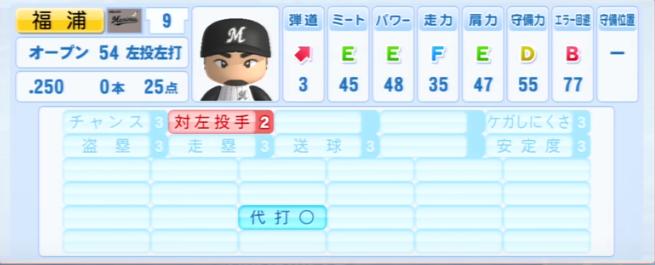 福浦和也_千葉ロッテマリーンズ_パワプロ能力データ_2013年シーズン終了時