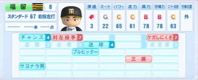 福留孝介_阪神タイガース_パワプロ能力データ_2013年シーズン終了時