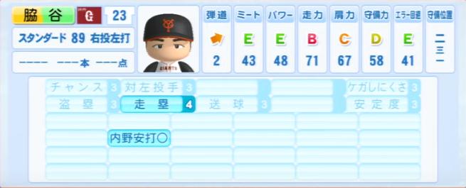 脇谷亮太_巨人_パワプロ能力データ_2013年シーズン終了時