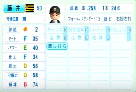 藤井彰人_阪神タイガース_パワプロ能力データ_2014年シーズン終了時