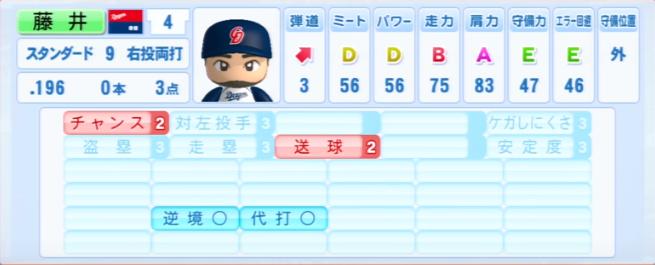 藤井_中日ドラゴンズ_パワプロ能力データ_2013年シーズン終了時