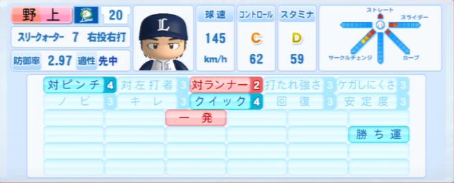 野上亮磨_西武ライオンズ_パワプロ能力データ_2013年シーズン終了時