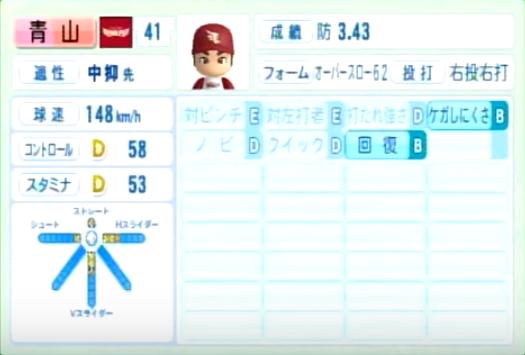 青山_楽天イーグルス_パワプロ能力データ_2014年シーズン終了時