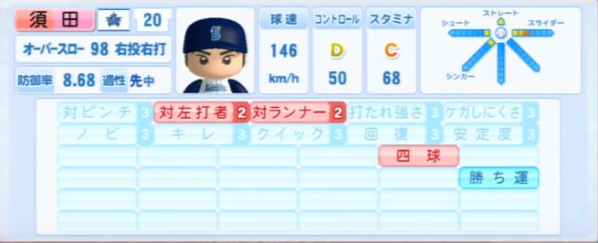 須田幸太_横浜DeNAベイスターズ_パワプロ能力データ_2013年シーズン終了時