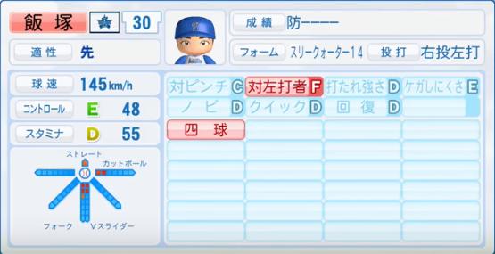 飯塚_横浜DeNAベイスターズ_パワプロ能力データ_2017年シーズン終了時