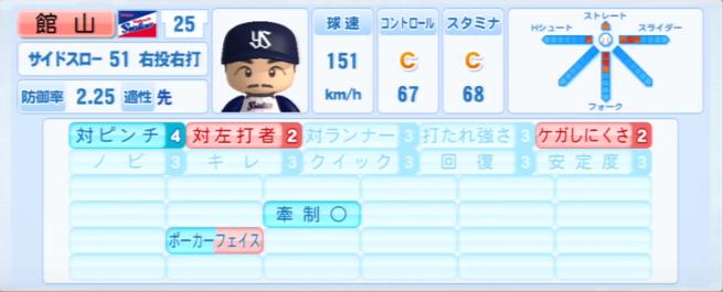 館山_ヤクルトスワローズ_パワプロ能力データ_2013年シーズン終了時