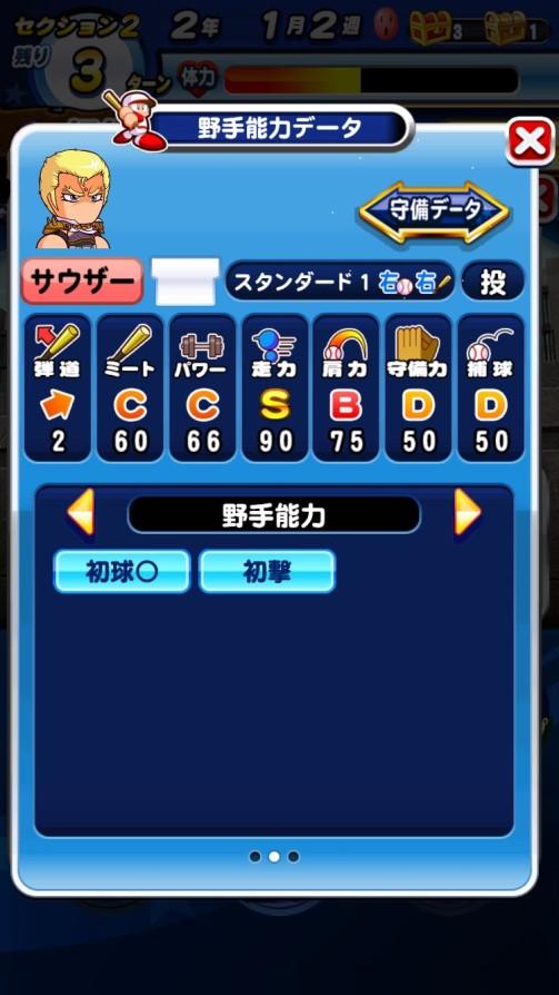 サウザー(野手)_北斗の拳_パワプロ能力データ
