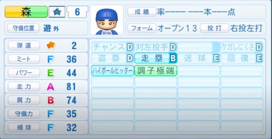 森敬斗_横浜DeNAベイスターズ_パワプロ能力データ_2020年シーズン開幕時_7月9日Ver
