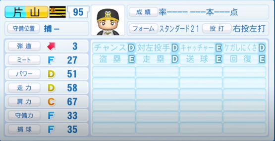 片山_阪神タイガース_パワプロ能力データ_2020年シーズン開幕時_7月9日Ver