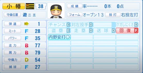 小幡竜平_阪神タイガース_パワプロ能力データ_2020年シーズン終了時_11月26日アプデ