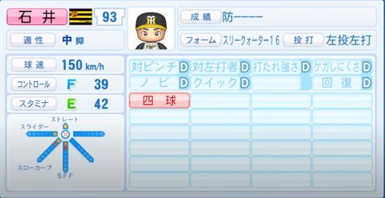 石井_阪神タイガース_パワプロ能力データ_2020年シーズン終了時_11月26日アプデ